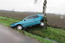 Následky havárie ve Srubech.
