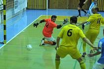 NA VÝKONU gólmana Libora Gerčáka bude hodně stát úspěch Nejzbachu v utkání proti Benagu Zruč nad Sázavou.