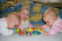 Jednovaječná trojčata, trojnásobná radost, trojnásobná starost. Měsíční náklady rodiny vynaložené na děti jsou vysoké, vše musí být třikrát..