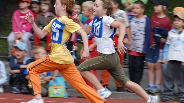 Děti na závodech předvedly skvělé výkony.