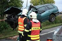Nehoda na silnici I/35 u Zámrsku.