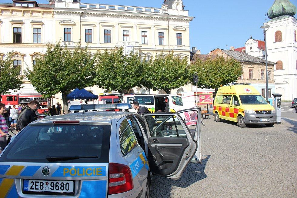 Všechny složky integrovaného záchranného systému dorazily na choceňské náměstí.