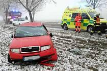 Dopravní nehoda v Líšnici.