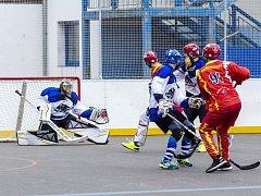 Krajská hokejbalová liga - semifinále play off: Žamberk - Chrudim B.