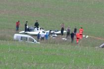U obce Třebovice spadlo malé letadlo.
