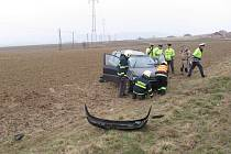 Dopravní nehoda v Rudolticích.