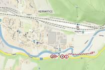 Na silnici II/315 v úseku Ústí nad Orlicí (křižovatka s místní komunikací k vlakovému nádraží) a městskou částí Kerhartice řidiči narazí na dopravní omezení.