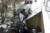 Dopravní nehoda v Prostřední Lipce.