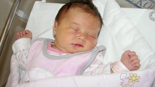 Leonka Křížová těší od 24. prosince od 13.37 hodin rodiče Lucii a Martina z Dolní Sloupnice. Po porodu vážila 3,59 kg.