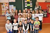 Žáci ze Základní školy Dlouhá Třebová s paní učitelkou Evou Kopeckou.