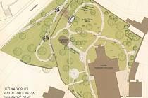 Mapka parku u kostela.