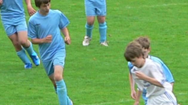 Výběr třináctiletých fotbalistů OFS Ústí prohrál až v boji o prvenství  se Vsetínem.