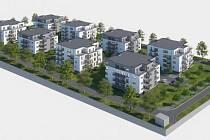 Plánovaná developerská výstavba v lokalitě Za Střelnicí v Lanškrouně