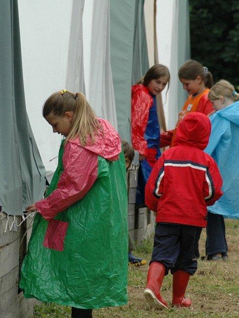 dětský tábor u Ústí nad Orlicí
