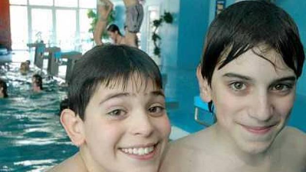 Děti z italského partnerského města Agrate Brianza.