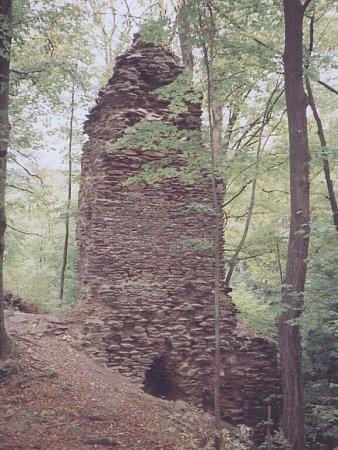 Zřícenina hradu Pyšolec.