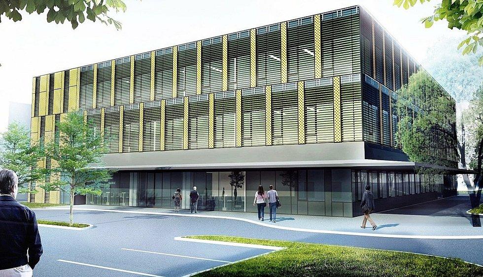 Vizualizace nového centrálního příjmu v Orlickoústecké nemocnici.