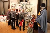 Textilní tvorba Dagmar F. a Kamenná krása v muzeu.