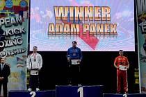 Adam Pánek na kickboxerském mistrovství Evropy.