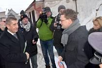 Návštěva místopředsedy vlády Andreje Babiše a ministra spravedlnosti Roberta Pelikána v Králíkách.