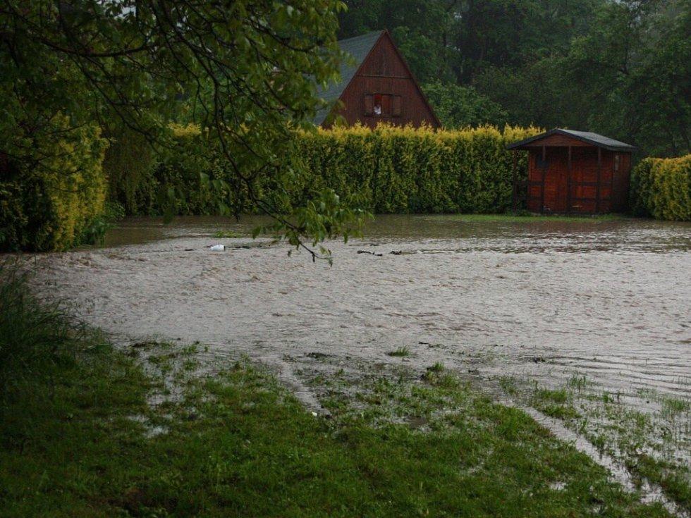 Velká voda v Potštejně.