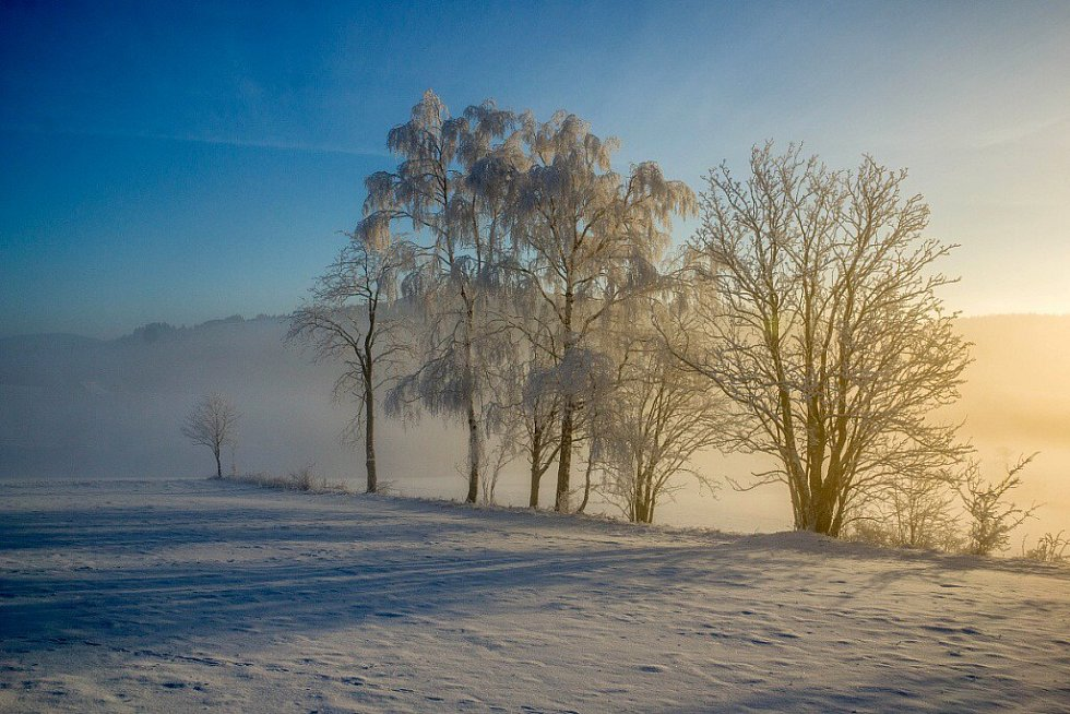 Zima na Jedlině a na Adamu.