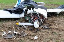 Tragická havárie malého letadla u Třebovice.