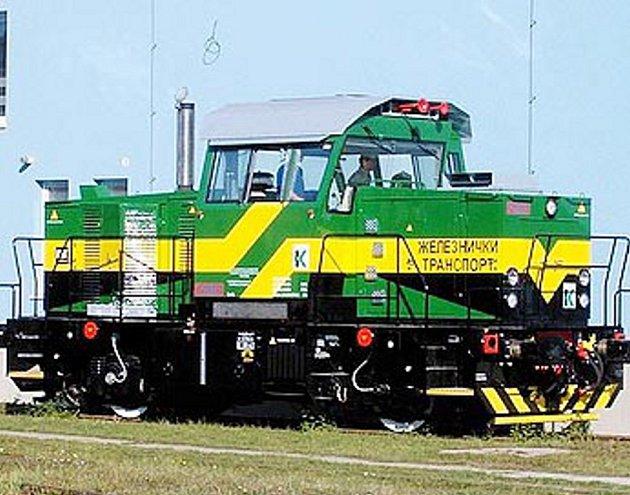 Posunovací lokomotiva společnosti CZ LOKO.