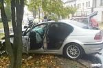 Ve Vysokém Mýtě došlo v pátek k nehodě dvou osobních vozidel