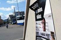 Plakáty zavražděných v Ústí.