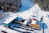 Skipark Červená Voda pod Bukovou horou.