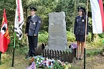 Uctění památky zastřeleného strážmistra SNB Josefa Hendrycha.