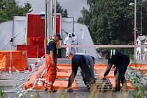 Práce hasičů v Kosoříně.