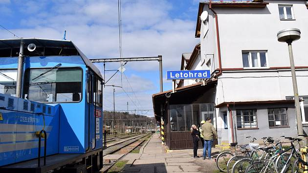 Slavnostní zahájení rekonstrukce vlakového nádraží v Letohradě, které bude stát přes miliardu korun.