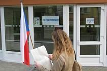Hana Cermanová u voleb.