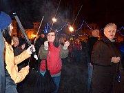 Demonstrace proti vzniku ženské věznice v Králíkách.