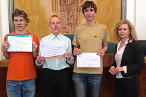 Radovan Švarc (vlevo) mezi nejlepšími českými mladými matematiky.