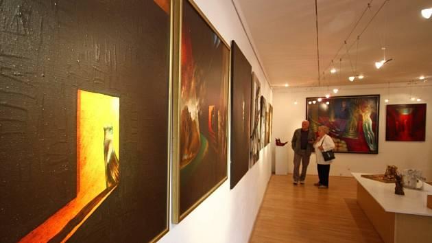 Z výstavy Richard Pešek 60.