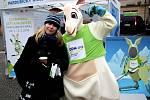 OLYMPIÁDU DĚTÍ A MLÁDEŽE 2018 propagovala roadshow po Pardubickém kraji. Jedním z míst, kam zavítal stánek s klokaním maskotem olympiády, byla Choceň.