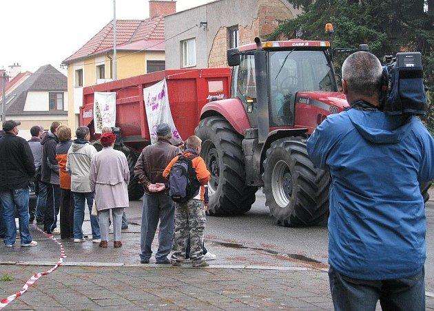 Zemědělci protestovali v Ústí nad Orlicí.