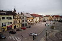 Prázdné centrum města.