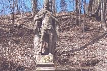 Barokní pískovcová socha sv. Václava.