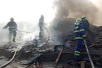 Požár restaurace v Žichlínku.