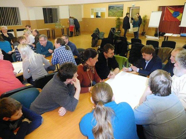 Setkání s veřejností nad přípravou plánu rozvoje obce.