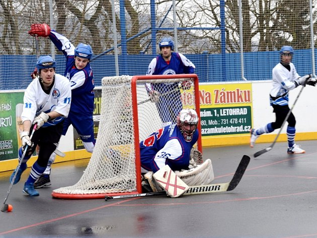 Extraliga hokejbalistů: SK Hokejbal Letohrad - HBC Rondo Most.