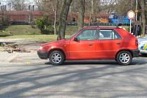 Dopravní nehoda, která se stala na jedné z choceňských ulic.