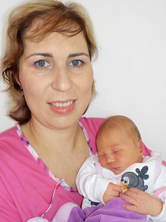 Eliška Nováková je prvorozená dcera Kateřiny a Stanislava z České Třebové. Narodila se 7. 4. v 4.07 hodin a vážila 3400 g.
