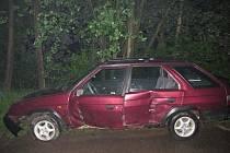 Na Žambersku havarovala řidička pod vlivem alkoholu.