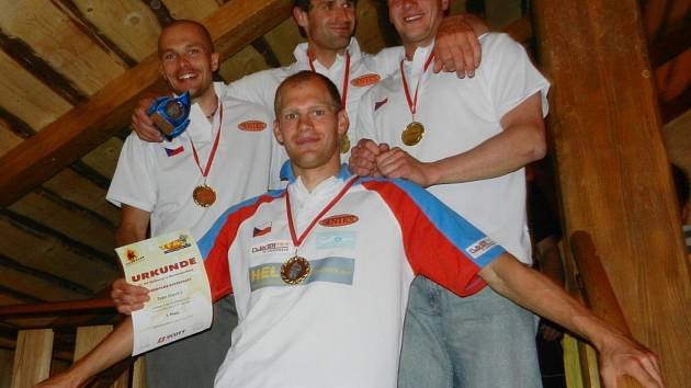Lukáš Novák na mistrovství Evropy v disciplínách TFA v německém Mönchengladbachu.