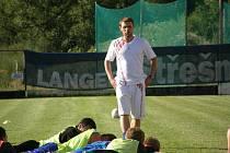 Tady velím já! Úvodní trénink pod vedením nového ústeckého kouče Jan Navrátila nebyl pro hráče rozhodně odpočinkový. Někteří toho měli na konci plné zuby.